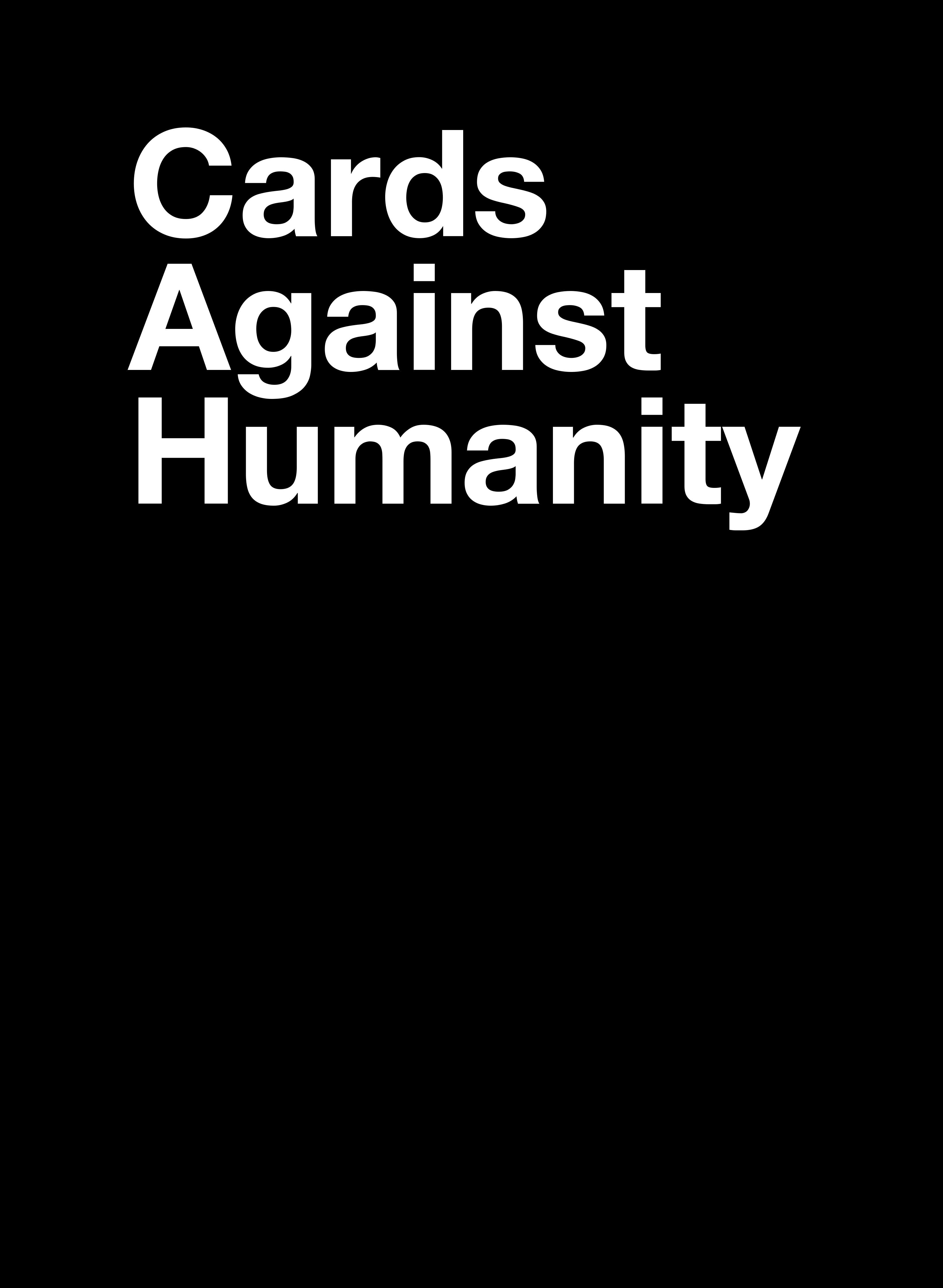 Cards Against Humanity - Card Generator